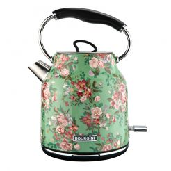 Floral Water Kettle Green