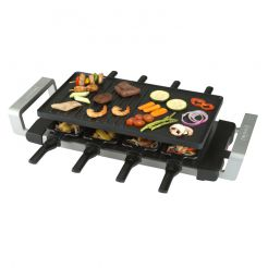 Gourmette/raclette grill 8P