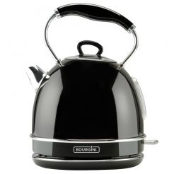 Classic Nostalgic Water Kettle Deluxe Black 1.7L