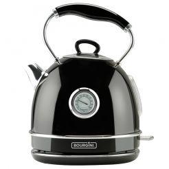 Nostalgic Thermo Water Kettle Black 1.7L