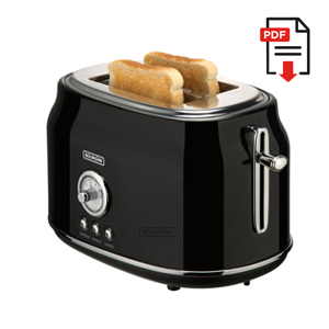 Retro Toaster Black